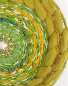 Green 70s Circle Weave