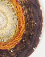 Load image into Gallery viewer, Brown Velvet 70s Circle Weave