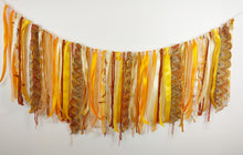 Load image into Gallery viewer, Yellow textile garland