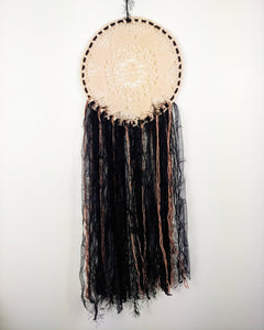 Pink and black dreamcatcher