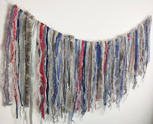 Grey & Blue Textile Garland
