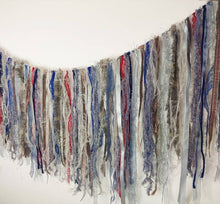 Load image into Gallery viewer, Grey & Blue Textile Garland