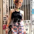 【SALE】PVC×Satin Camisole By 6-D