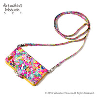 Colorful Rebellion THANK YOU ALL iPhone 5,5sCase w/ Shoulder Strap