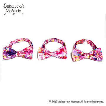 Colorful Rebellion Bow Tie-Desire