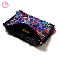 Neon Spectrum Fur Clutch/Pochette