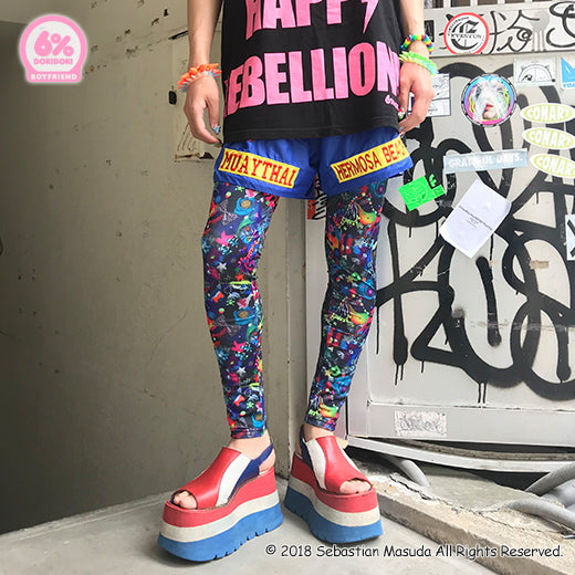 Neon Spectrum Boyfriend Leggings