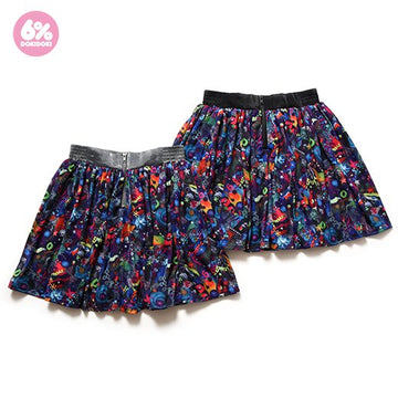 Neon Spectrum Flared Skirt