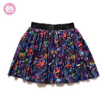 【SALE】Neon Spectrum Flared Skirt