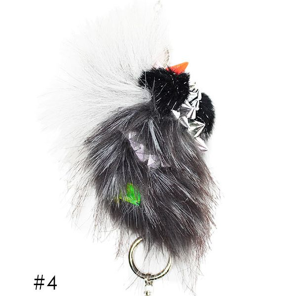 6-D Multi-Faux Fur Charm