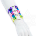 Neon heart triple bracelet by DEVILISH