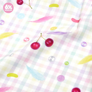 Angel sleeve dress / Gingham-cherry
