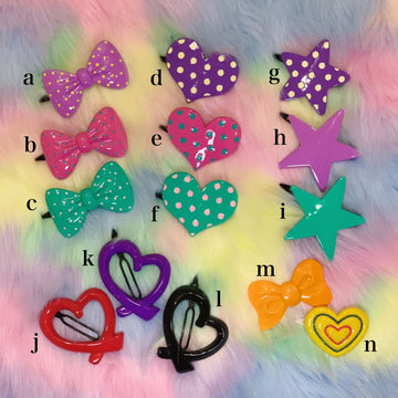 【SALE】POP Plastic Hair Clip