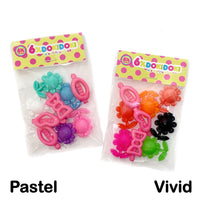Colorful Pastel Flake Clip Set Assorted 9 Pack