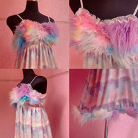 Faux Fur Customized Series Baby-doll dress