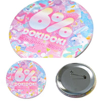 Logo Tin Badge/Primal Pop 6%DOKIDOKI Mix