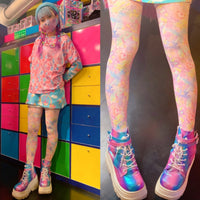 Primal Pop 6%DOKIDOKI Mix 80 Denier Tights