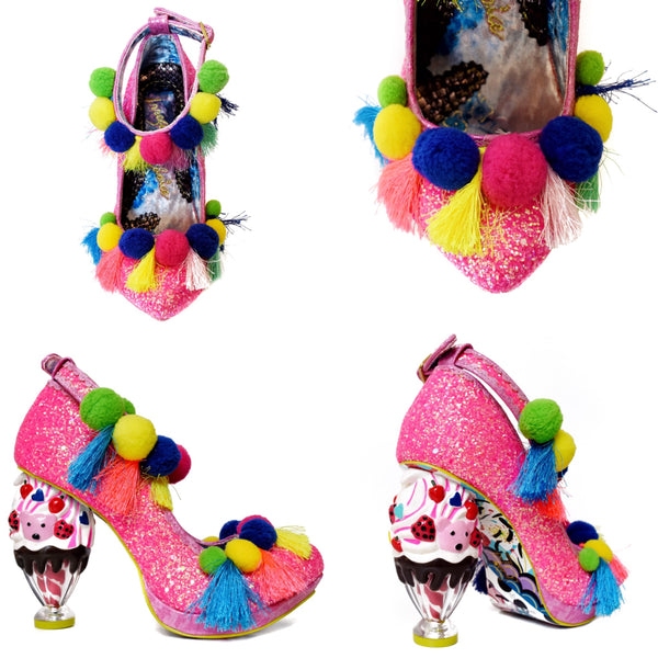 【SALE】Arctic Roll Strappy Heels by Irregular Choice