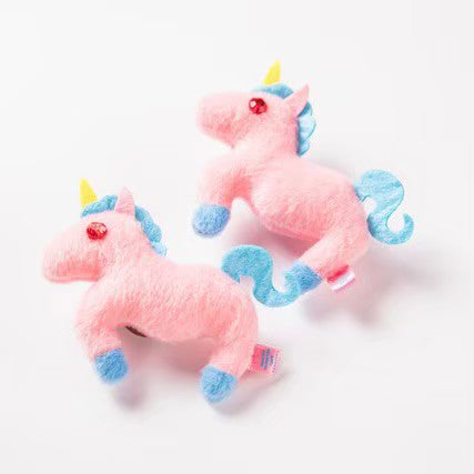 Plush unicorn clip and brooch by KMC