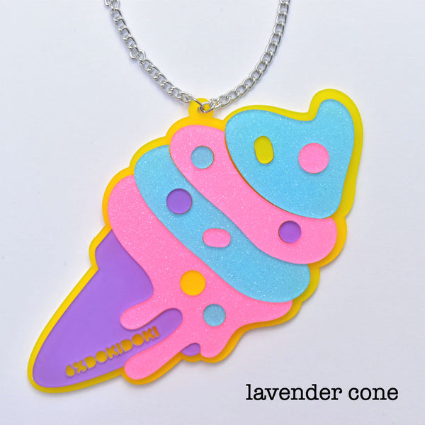 Yummy Soft-Serve Ice Cream Necklace