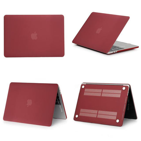 Coque Macbook NomadShield - Rouge Bordeau Mat