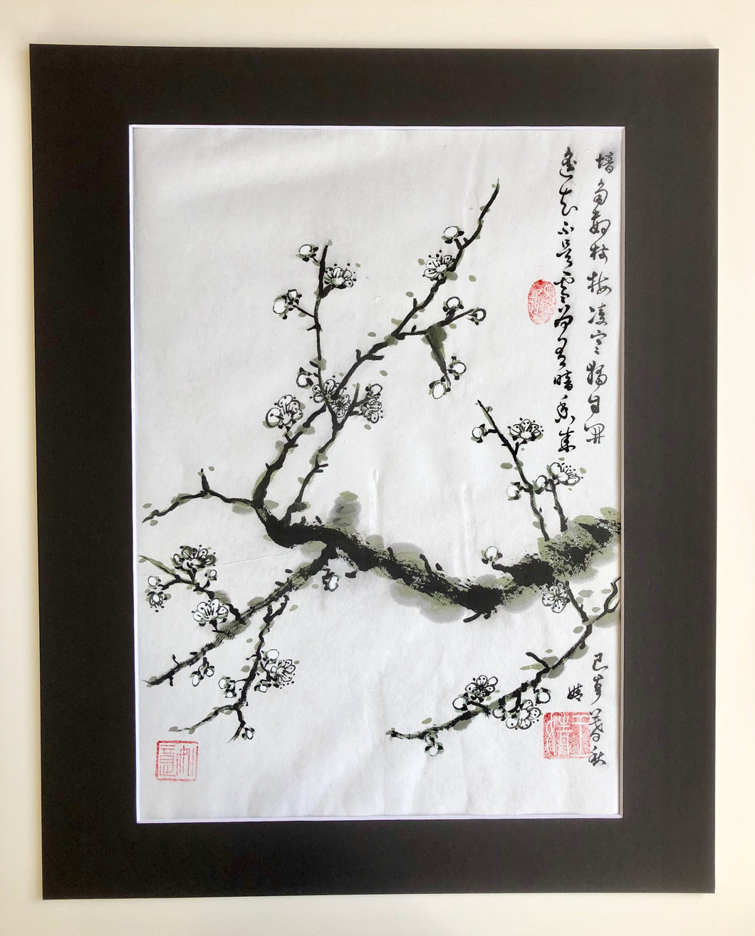 Plum Blossoms Inspired by Wang Anshi's Poem (Original)