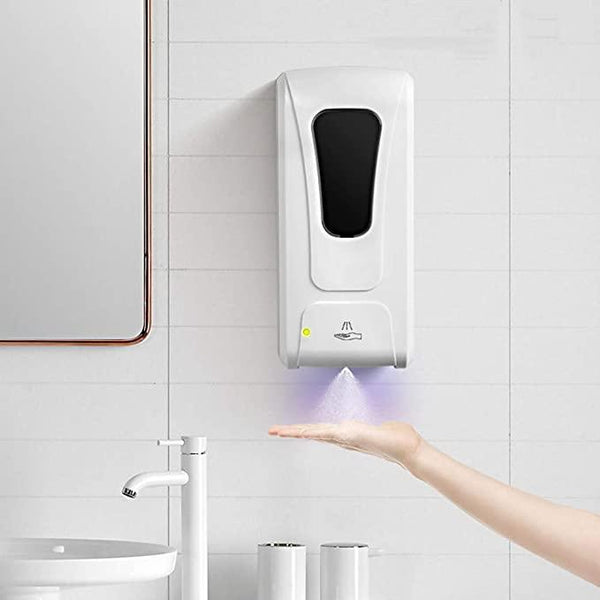 Touchless Automatic Hand Sanitizer Dispenser Machine High Volume 1000ML Automatic Induction Sterilization Machine Touchless Wall-Mounted Dispenser