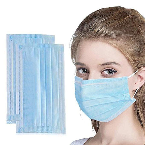 50pcs Disposable Earloop Mouth Face Mask 3-Layer Breathable & Comfortable Filter