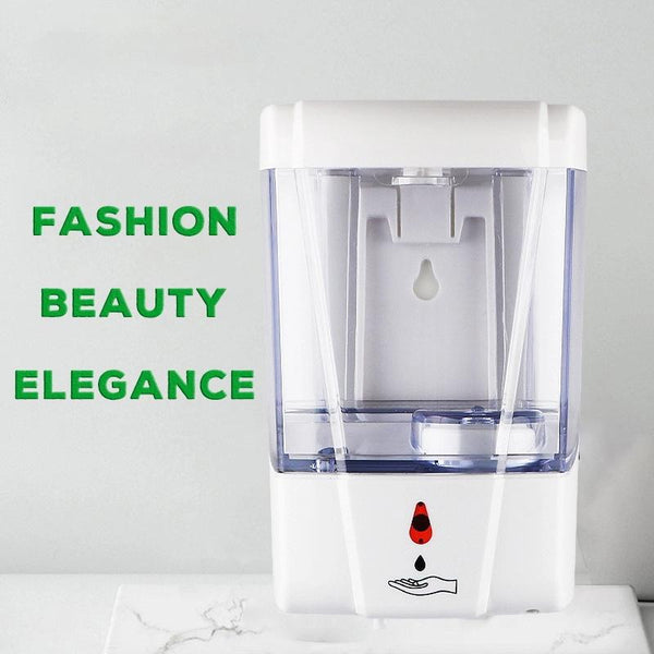 700ml Household Touch Free Touchless Wall Mounted Alcohol Auto Sensor Electric Automatic Hand Sanitizer Gel Soap Spray Dispenser