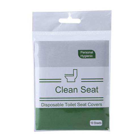 10Pack/100pcs Toilet Seat Covers Disposable Waterproof Individually Wrapped for Travel Home