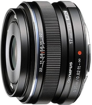 Olympus M.Zuiko 17mm f/1.8 Black Wide Angle Lens