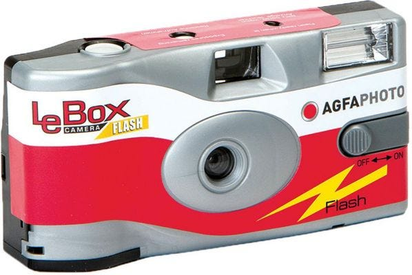 Agfa LeBox 400 ISO 35mm Flash 27 Exposure - Disposable Film Camera