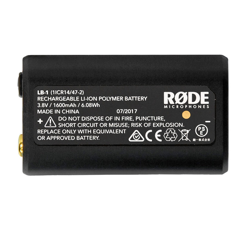 Rode LB-1 Lithium Ion Rechargeable Battery 1600mAh