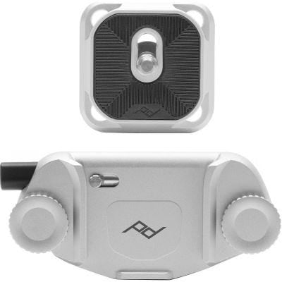 Peak Design Capture Camera Clip v3 Silver - with Standard plate
