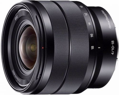 Sony E 10-18mm f/4 E-Mount Wide Angle Lens