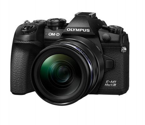Olympus OM-D E-M1 Mark III Black w/12-40mm f/2.8 PRO Lens Compact System Camera