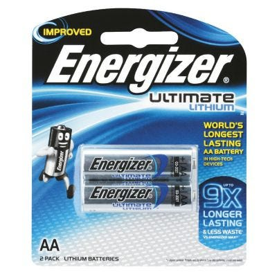 Energizer AA Lithium Battery                        2 P