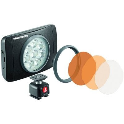 Manfrotto Lumimuse 8 LED Light, int Battery with Filters & Ball Head