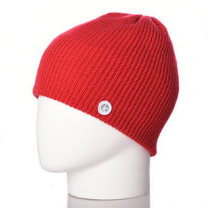 Bowen Merino Wool Beanie - Red