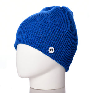 Bowen Merino Wool Beanie - Royal
