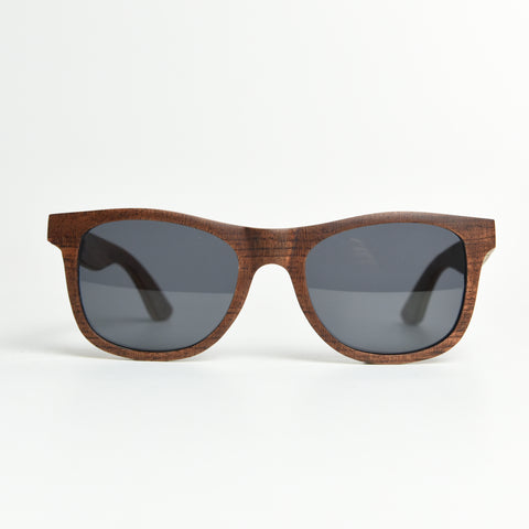 K-nit 'Enjees' Handcrafted Wooden Sunglasses - Rosewood - K-nit