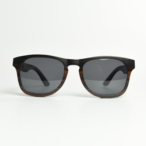 K-nit 'Enjees' Handcrafted Wooden Sunglasses - Ebony - K-nit