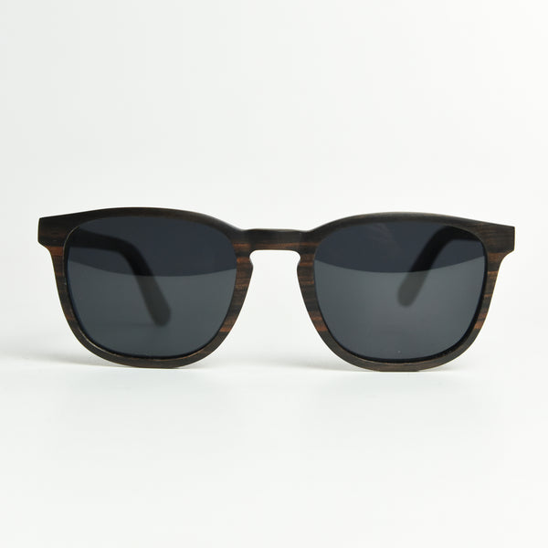 Enjees Handcrafted Wooden Sunglasses - Ebony - K-nit