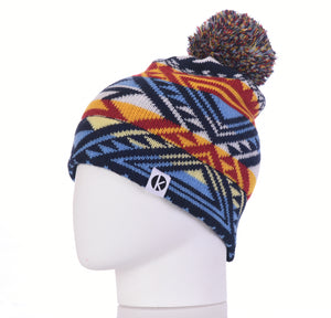 Nava Say Nava Merino Wool Bobble Beanie - Blue