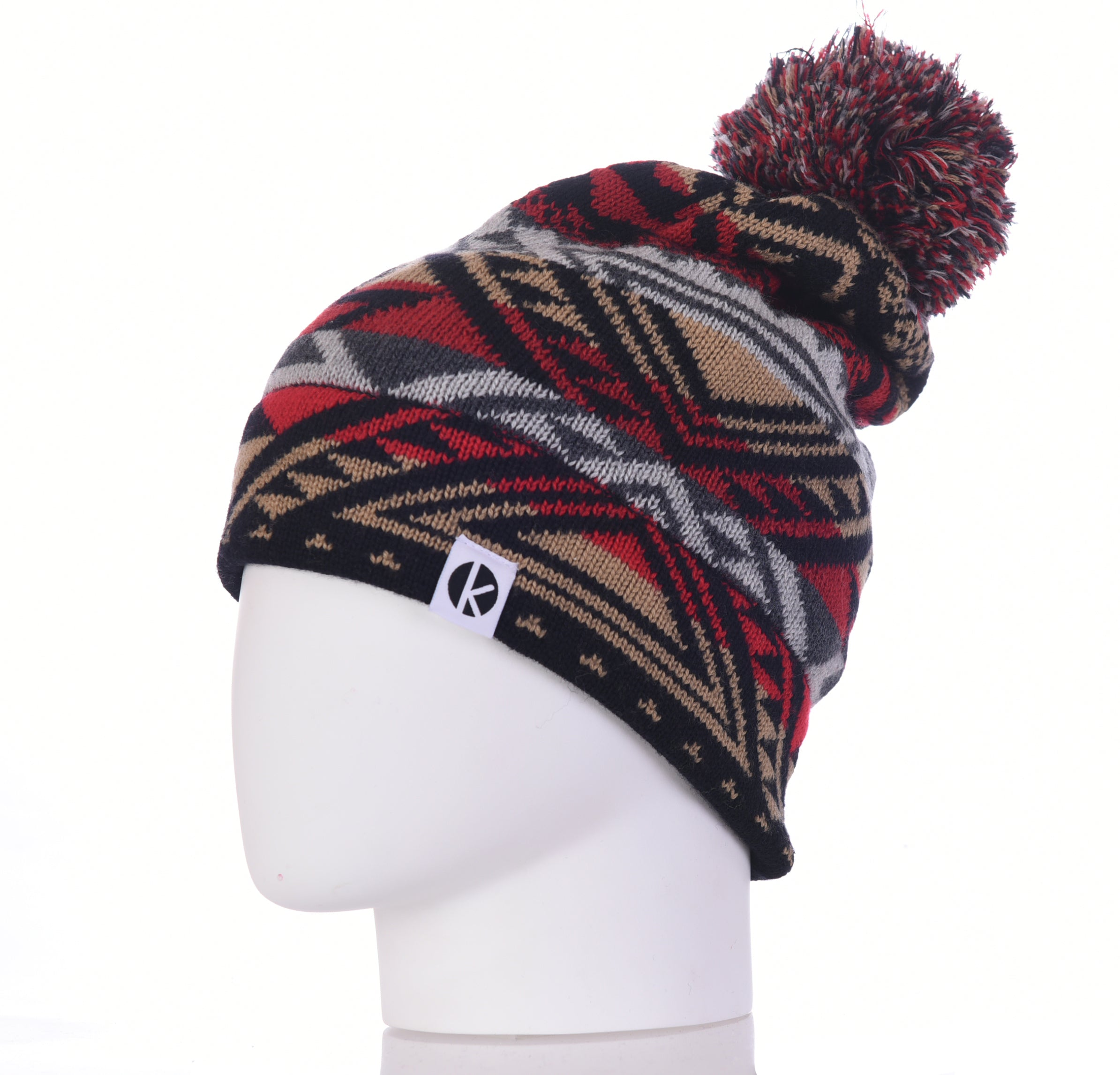 Nava Say Nava Merino Wool Bobble Beanie - Black