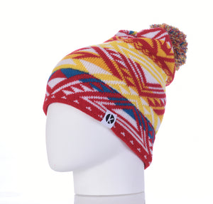 Nava Say Nava Merino Wool Bobble Beanie - Red
