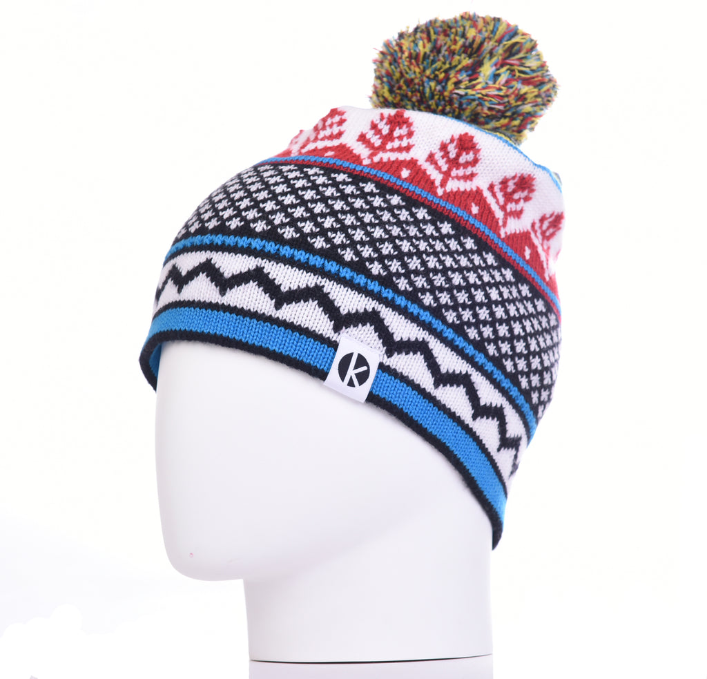 Nordicai Merino Wool Bobble Beanie