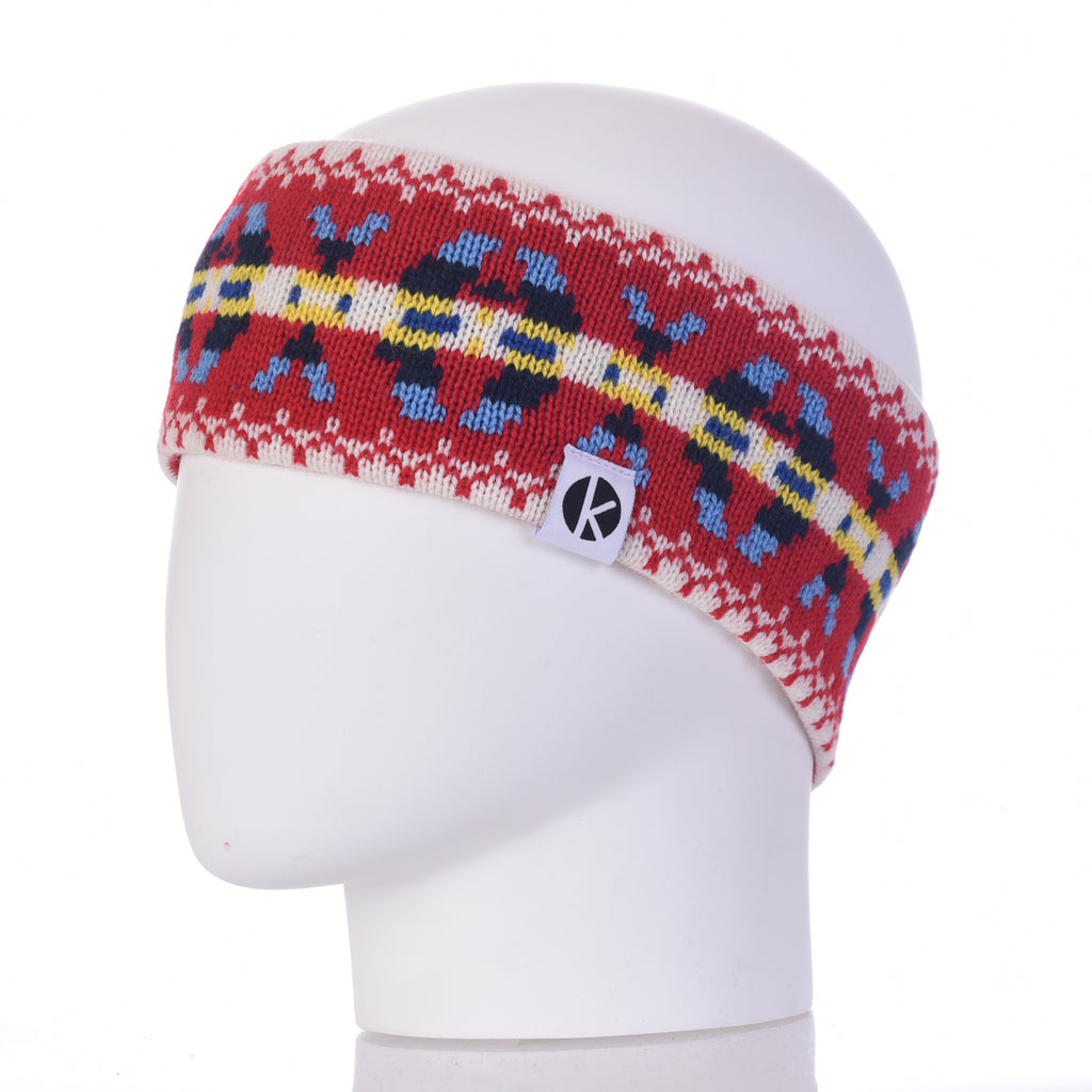 Burster Merino Wool Headband - Red