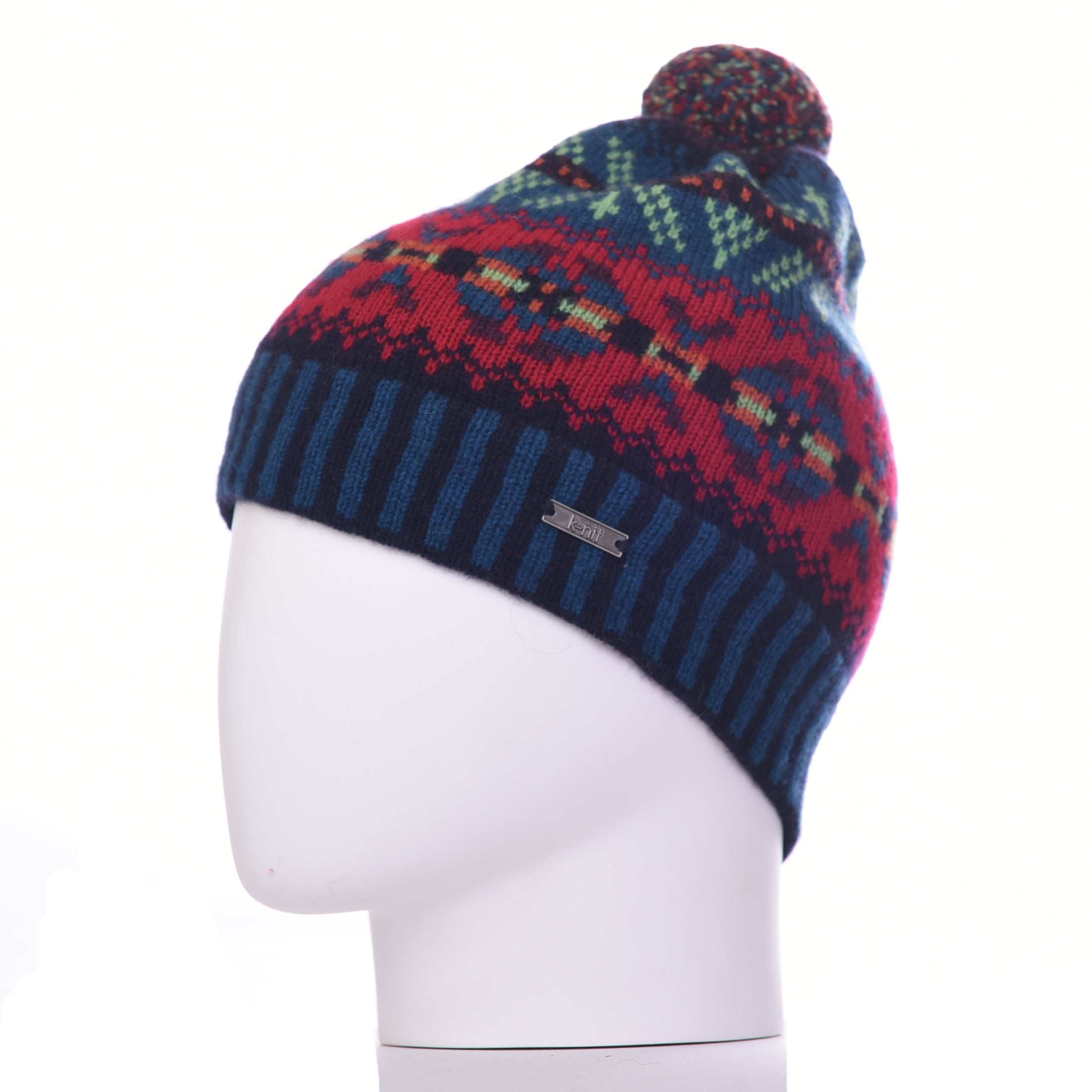 Burster Merino Wool Bobble Beanie