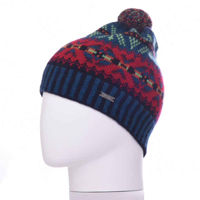 Howitt 'Burster' Fair Isle Merino Wool Bobble Beanie Hat